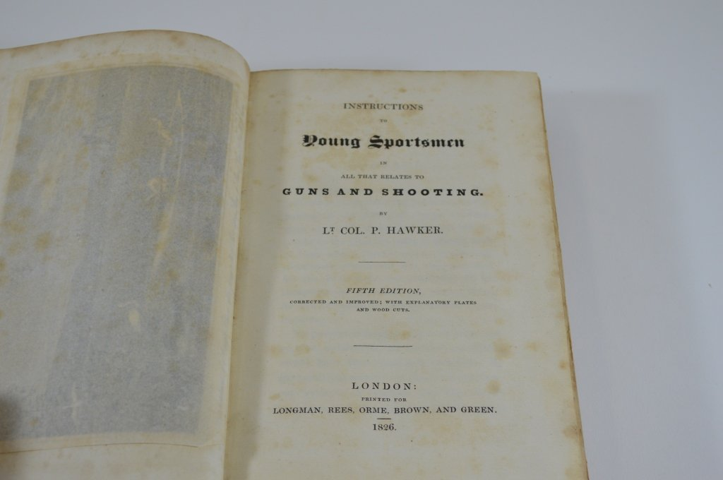 Instructions to Young Sportmen - Lt Col. P. Hawker - 2
