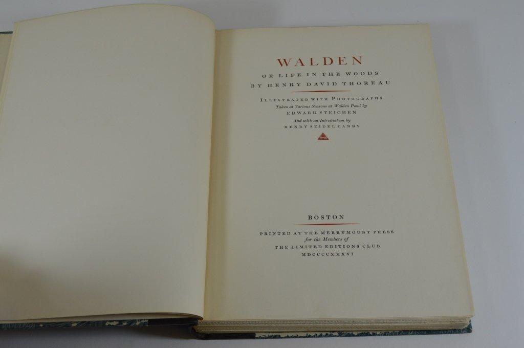 Walden by Henry David Thoreau 1936 - 2