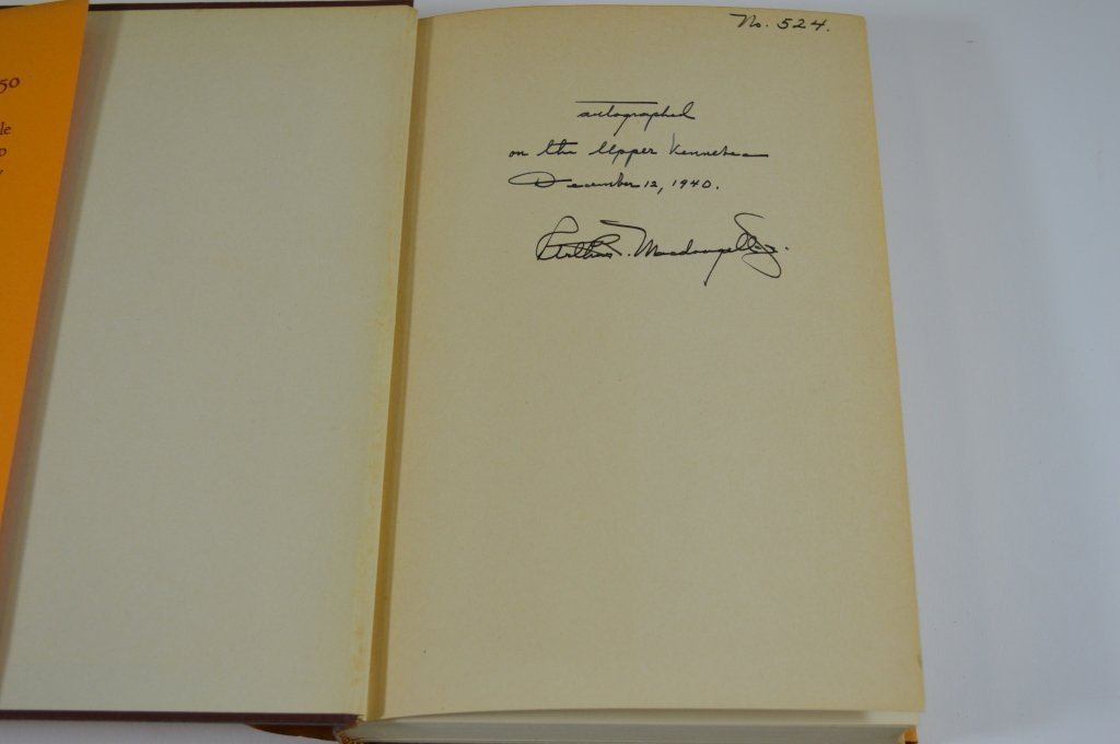 Two Arthur MacDougall Jr. Books - 3