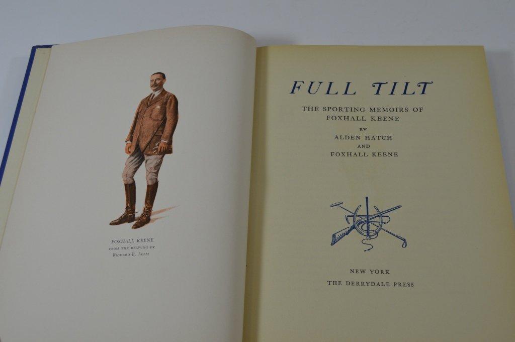 Derrydale Press Book Full Tilt by Alden Hatch - 2