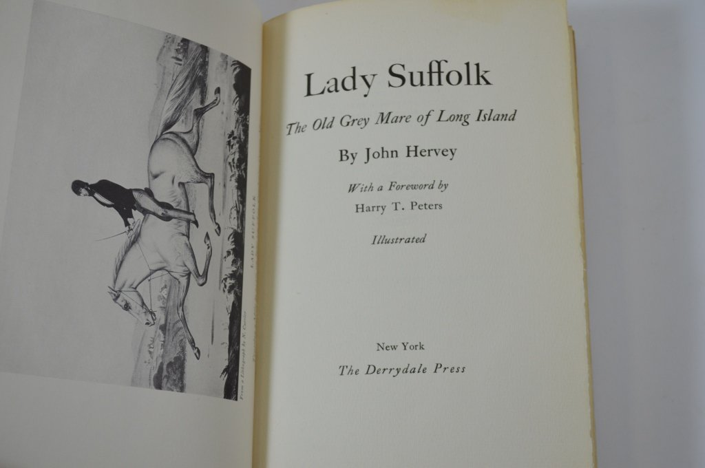 Derrydale Press Book Lady Suffolk - 2