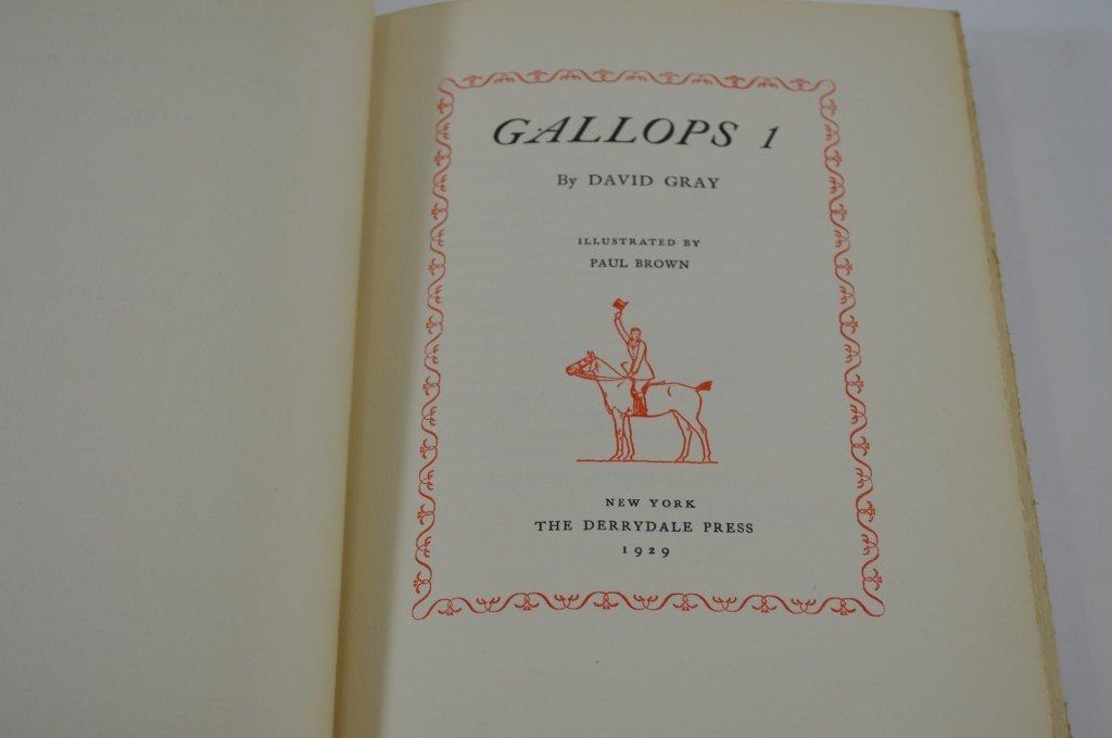 3 Derrydale Press Books - Gallops 1, 2, 3 - 3