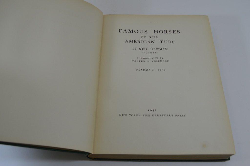 Derrydale Press Famous Horses Vol 1-3 - 2