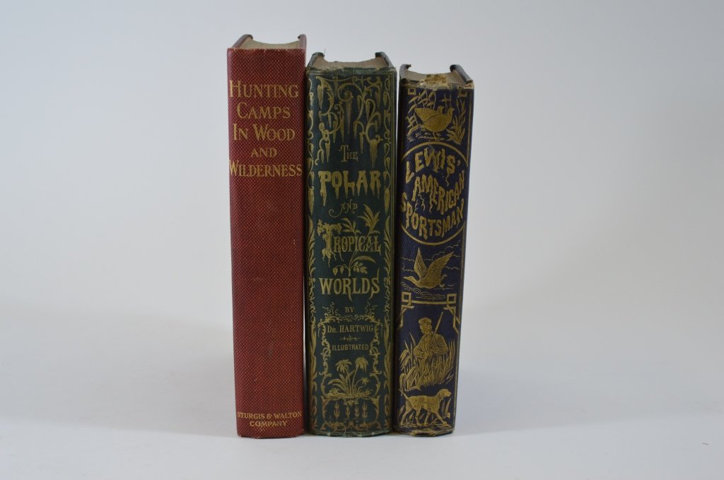 3 Hardcover Outdoor Sporting Books