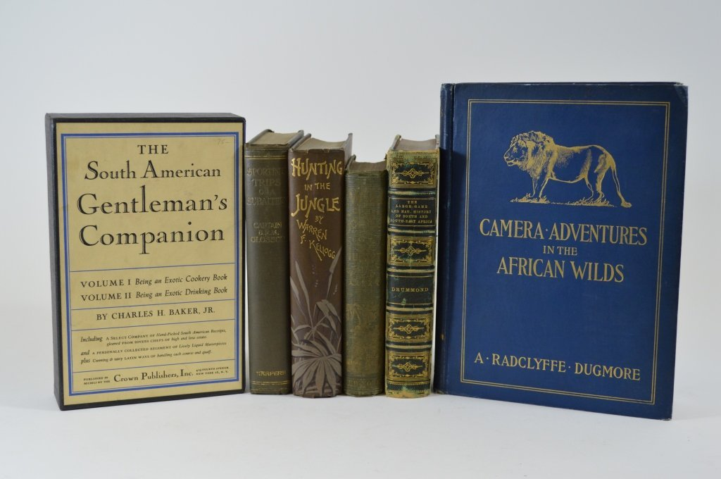 6 Hunting and Sporting Hardcover Books