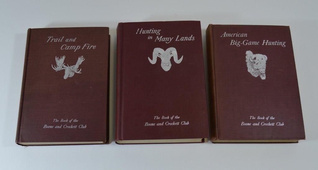 3 Boone and Crockett Club Books
