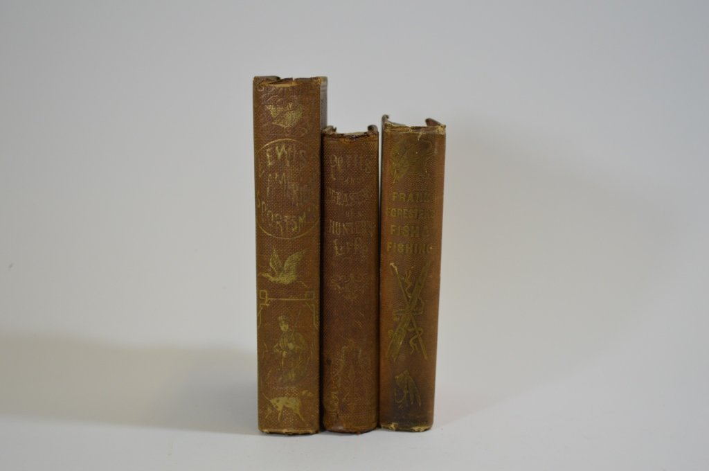 3 Early Hardcover Sporting Books