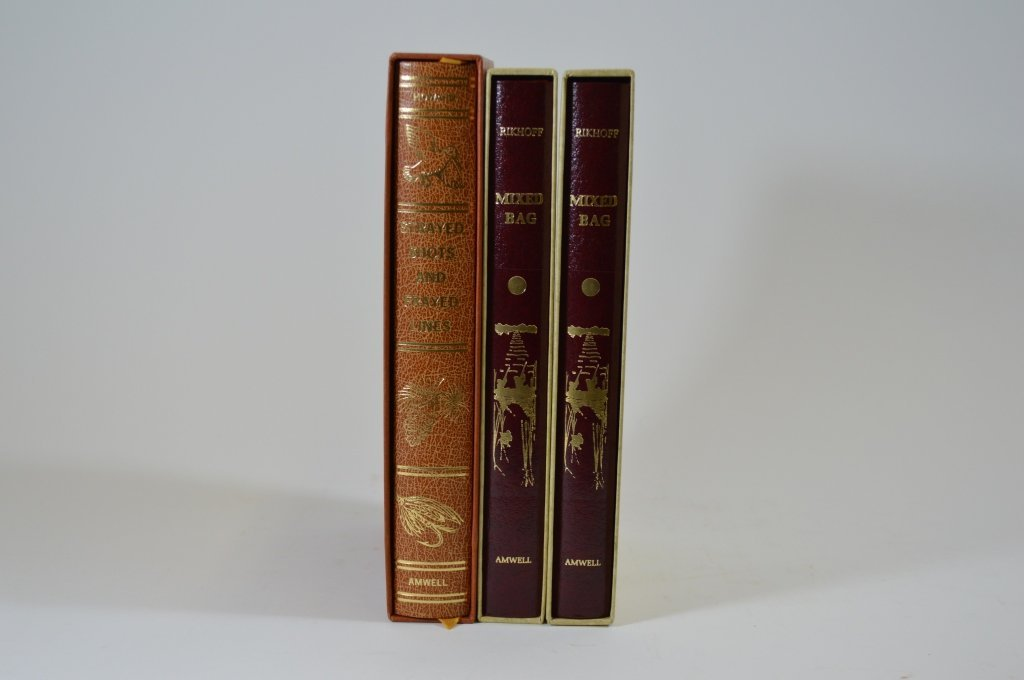3 Modern Leather Bound Duck Hunting Books