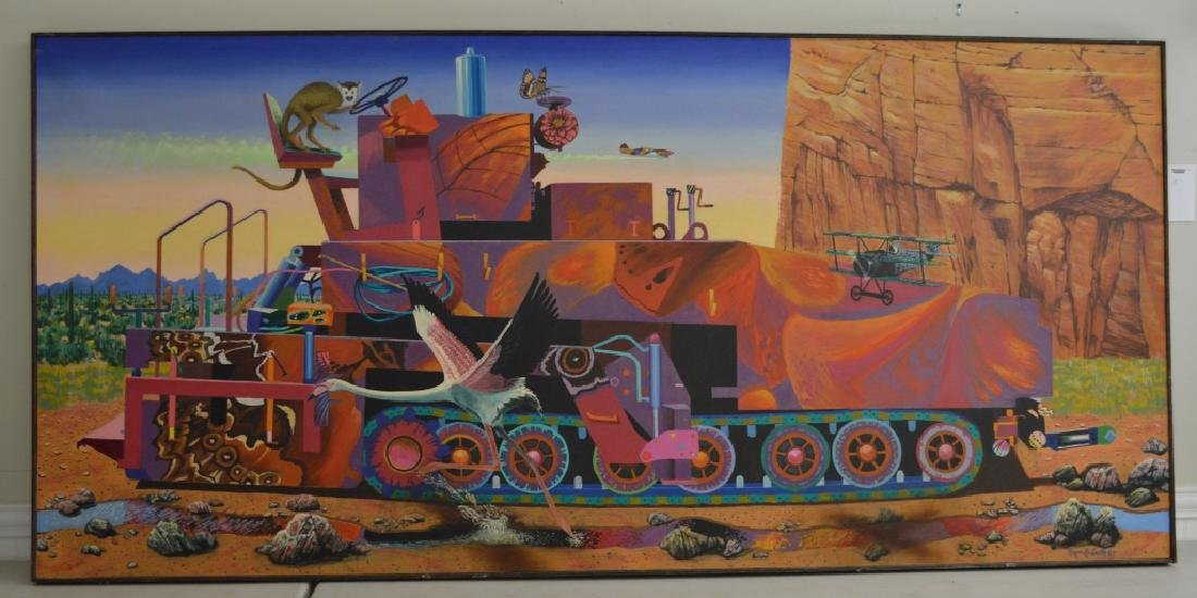 Paver with Monkey Oil on Canvas by Roger Smith