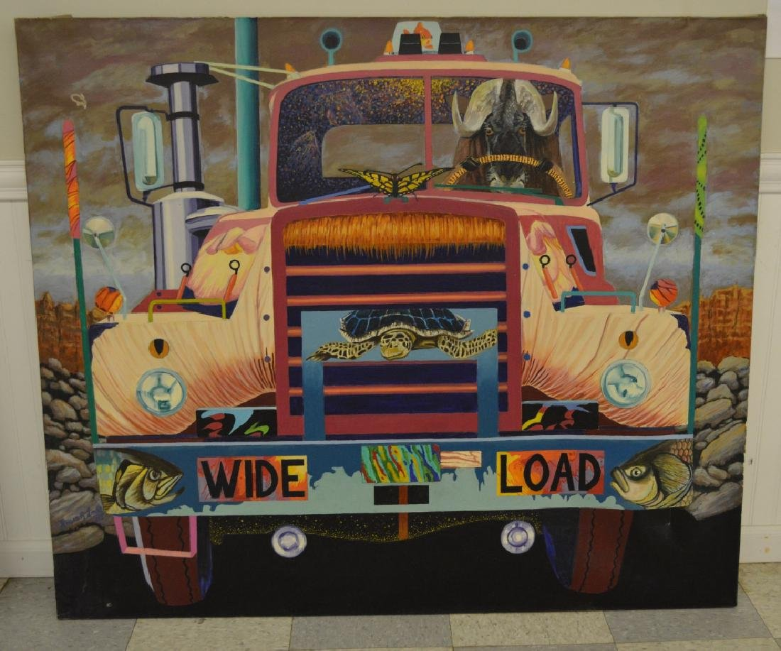 Truck with Gnu Oil on Canvas by Roger Smith