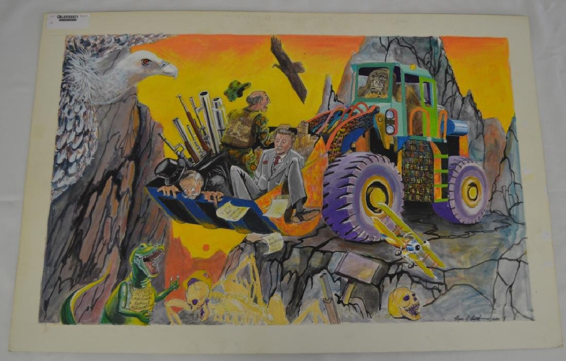 Payloader with Gorilla Painting by Roger Smith