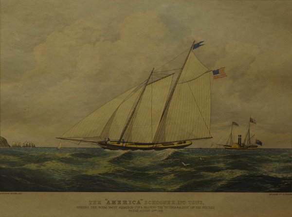 "2: The ""America"" Schooner, 170 tons, Winning the Royal"