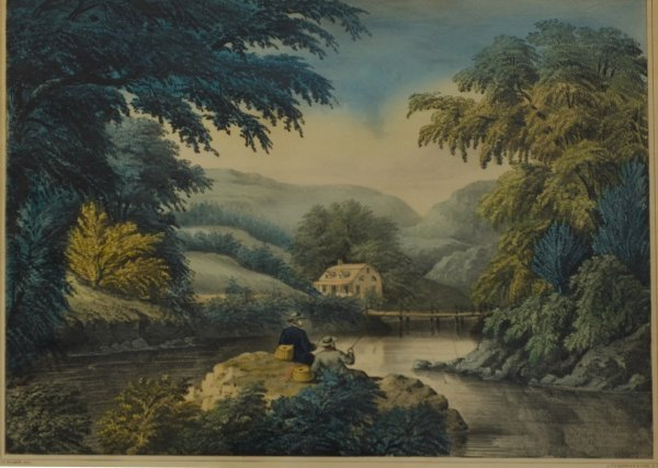 4: Riverside, with fisherman (Conningham #5164)
