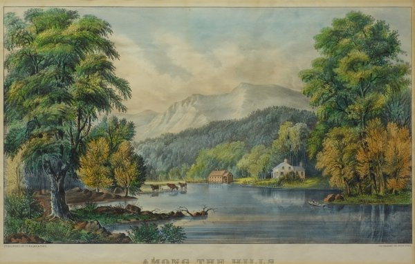 13: Among The Hills, New York State view of Ausable Riv