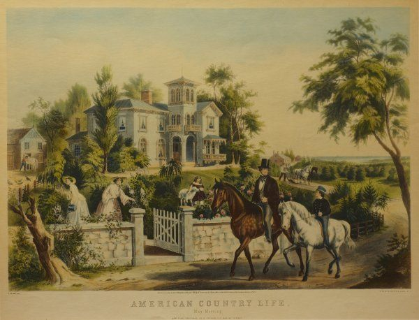27: American Country Life, May Morning, 1855 (Conningha