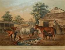 2 American FarmyardMorning 1857 Conningham 102Gal