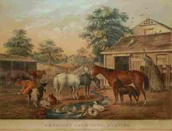 2: American Farmyard-Morning, 1857 (Conningham #102/Gal