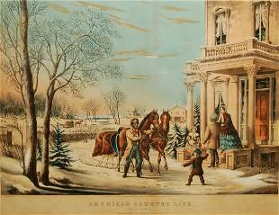 American Country Life: Pleasures of Winter, 1855 (Co
