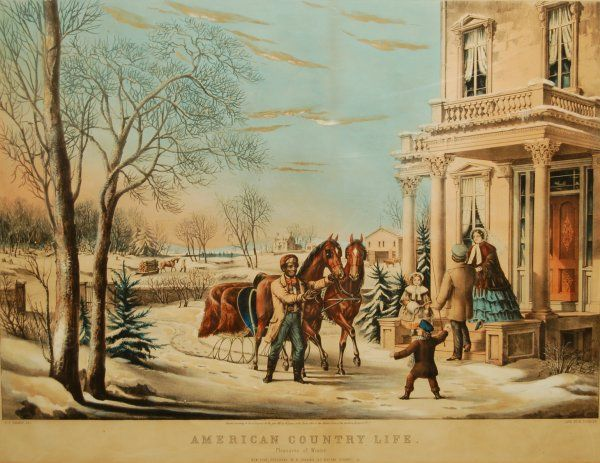 3: American Country Life: Pleasures of Winter, 1855 (Co