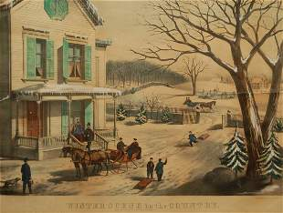 Winter Scene in the Country, late 19th Century