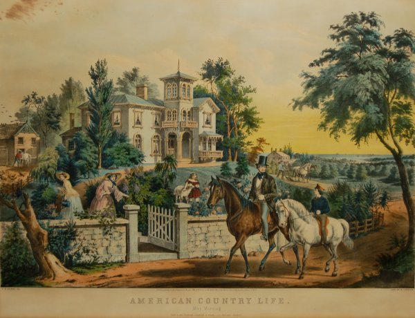 8: American Country Life: May Morning, 1855 (Conningham