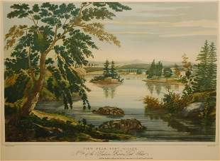 View Near Fort Miller, No. 9 of the Hudson River Po