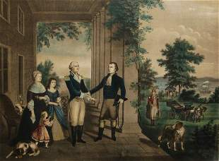 General Lafayette's Departure from Mt. Vernon, 1784