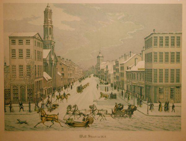 Wall Street in 1834