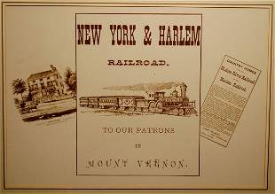 New York & Harlem Railroad, to our Patrons in Mt. V