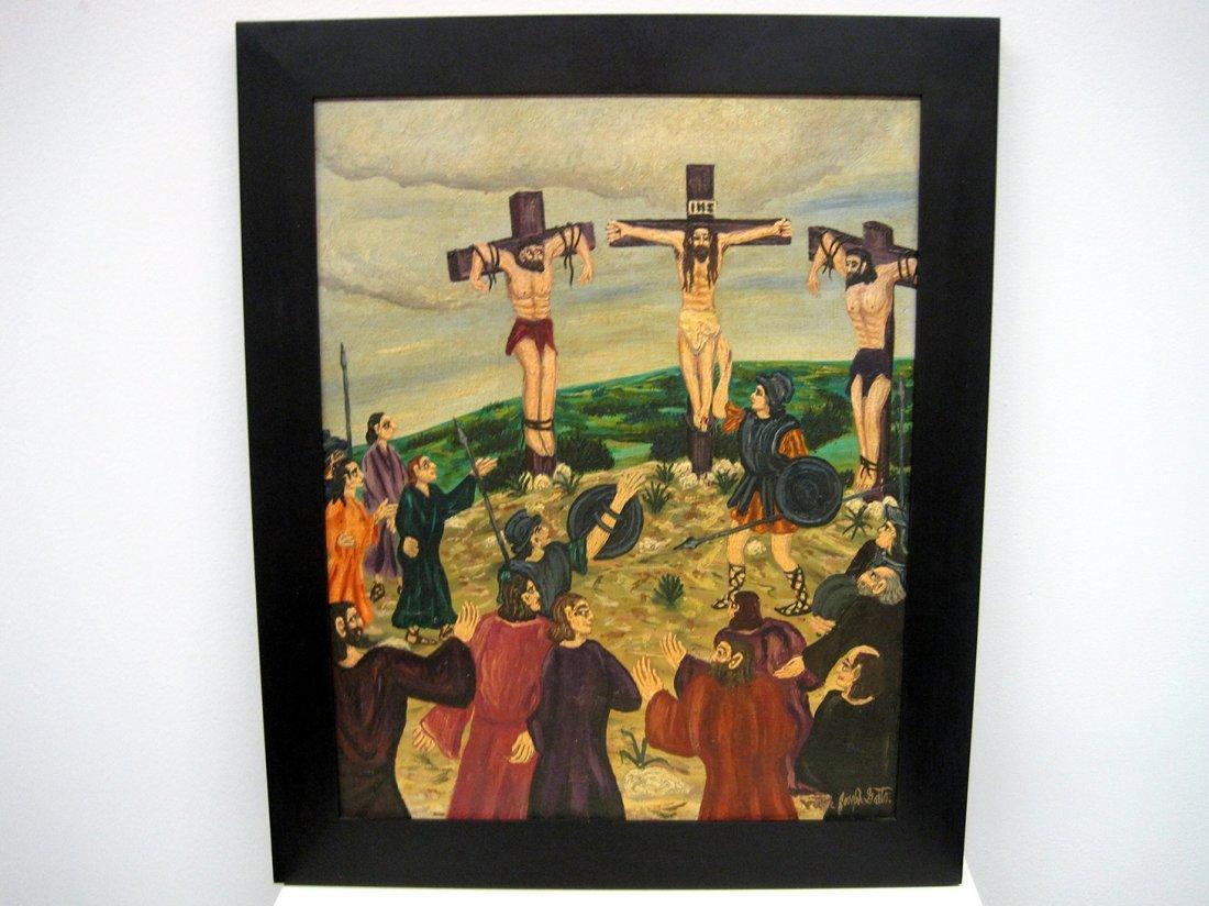 """102: Victor Joseph Gatto (1893-1965) """"Crucifixion"""""""