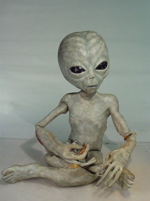 106: X FILES Screen Used Life Size Foam Grey Alien with