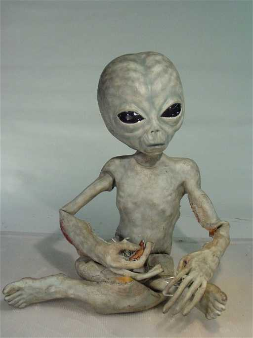 106 X Files Screen Used Life Size Foam Grey Alien With