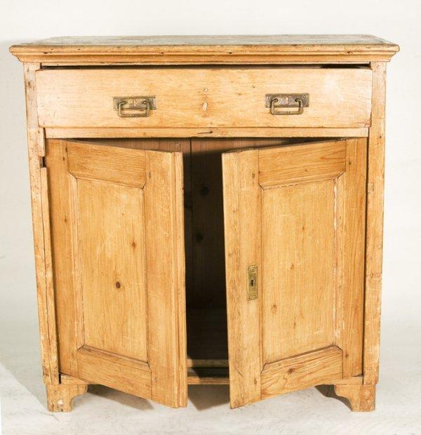 119: Rustic Pine Distressed Cabinet