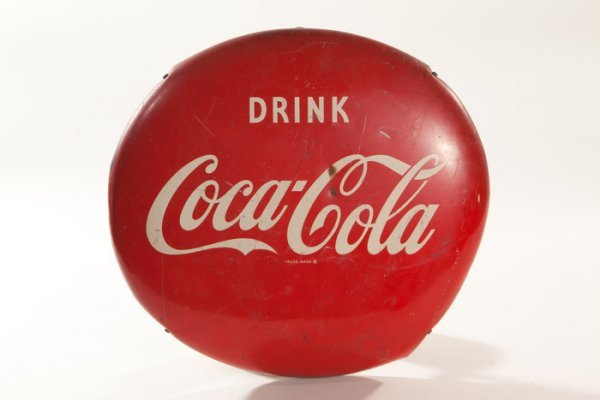 103: Vintage Red Round Coke Ball