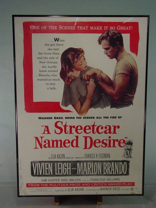"657: ""A STREETCAR NAMED DESIRE"" Framed Movie Poster"