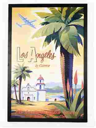 Post-War Los Angeles Pan-Am Airlines Tropical Post