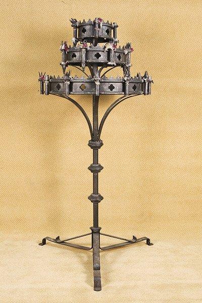 658A: Vintage Frestanding Medieval Gothic CandeLabra