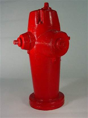 Movie Production Made Fiberglass Red Fireman Fire