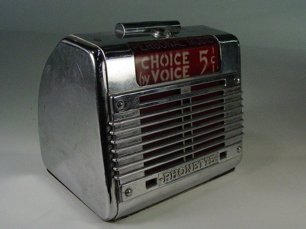 664A: 1950's chrome Choice By Voice Remote Speaker