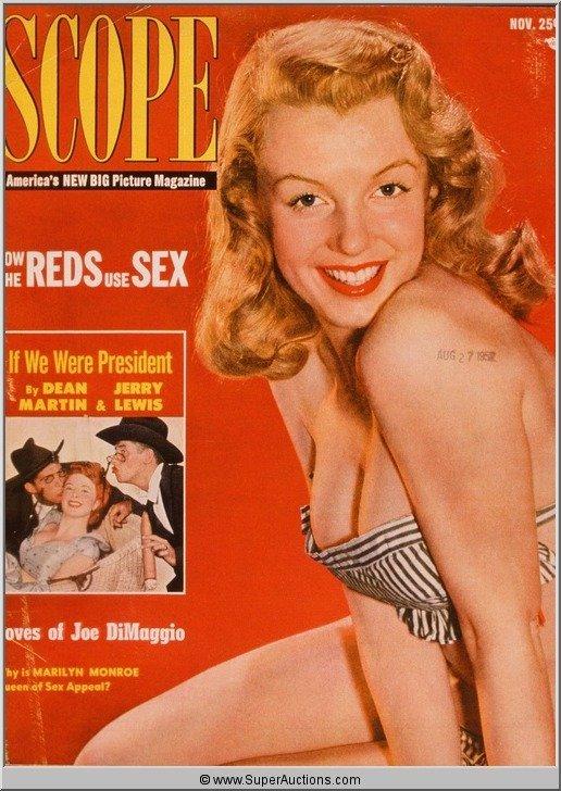 2: Marilyn Monroe Cover Girl Color Transparency Slide