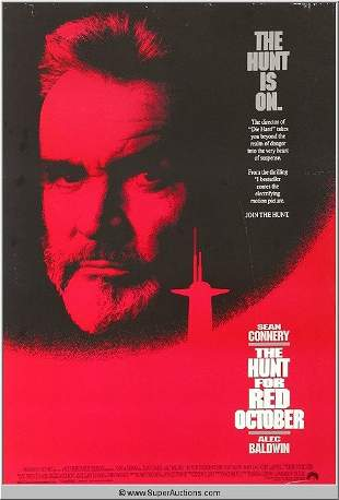 """""""The Hunt for Red October"""" Movie Poster"""