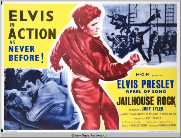 "367: Elvis Presley in ""Jailhouse Rock"" Movie Poster"