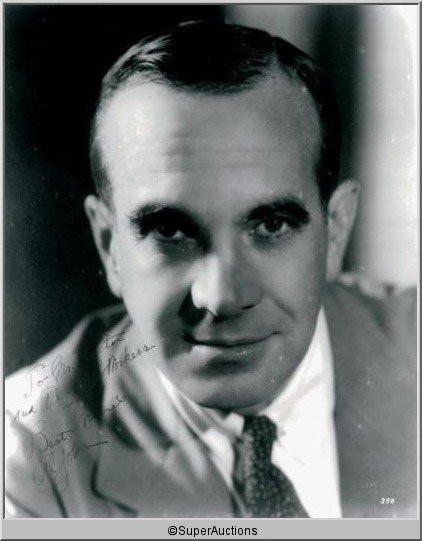 8: Al Jolson Autographed Negative and Photograph