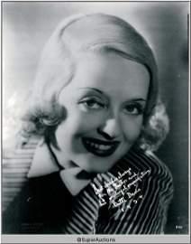 108: Bette Davis Autographed Negative and Photograph