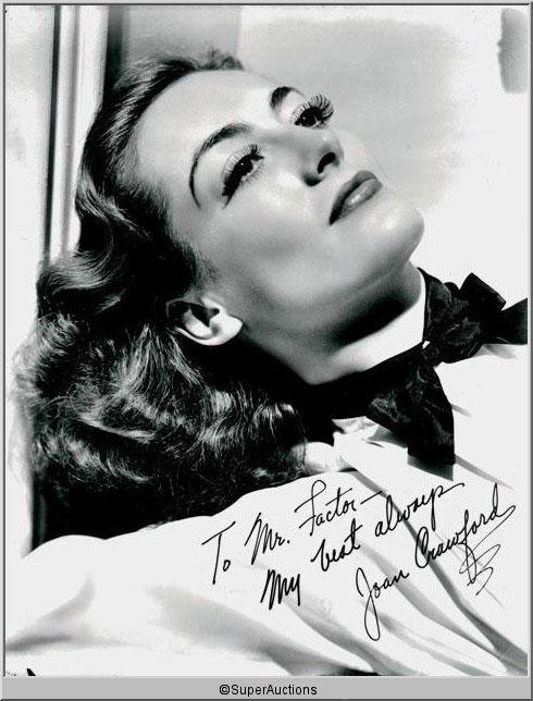 325: Joan Crawford Autographed Negative and Photograph