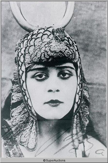"544: Theda Bara ""The Vamp"" Autographed Negative and Pho"