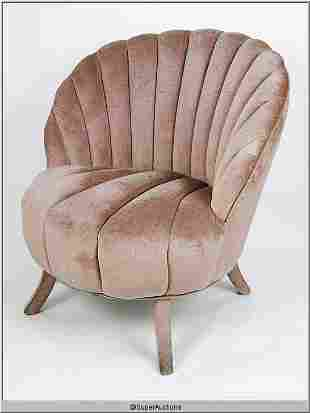 Scallop Shaped Salon Chair