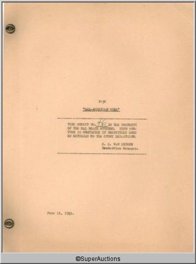 4: All- American Girl Movie Script & Musical Score