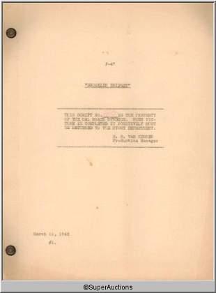 Brooklyn Bridget Movie Script