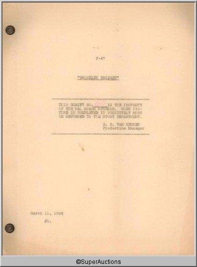 5: Brooklyn Bridget Movie Script
